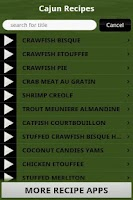 Screenshot of Cajun Recipes Cookbook