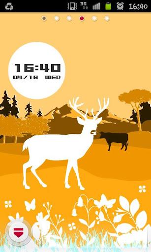 Deer Space ライブ壁紙 - Orange