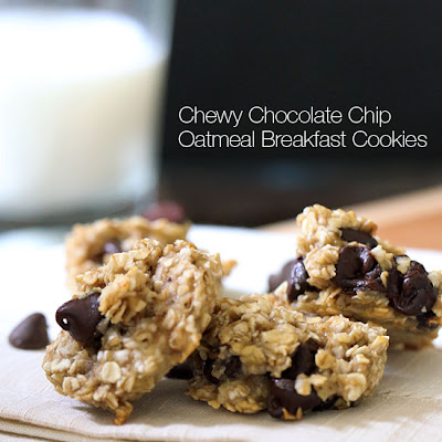 Chewy Chocolate Chip Oatmeal Breakfast Cookie