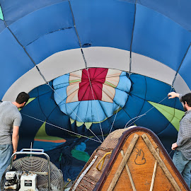 Inflate The Ballon by Brenda Hooper - News & Events Entertainment ( hot air balloon, little rock, park, event, inflation, arkansas )
