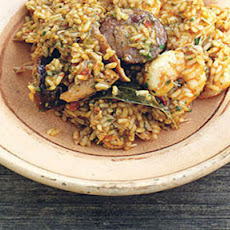 Chicken, Sausage And Prawn Jambalaya