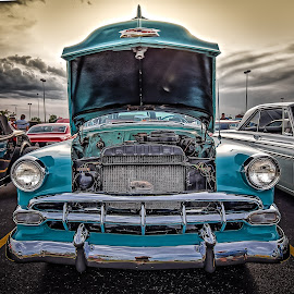Sunset Hood by Ron Meyers - Transportation Automobiles