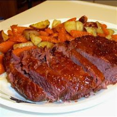 Apricot-Glazed Corned Beef