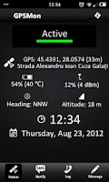 Screenshot of GPSMon - GPS Tracking Monitor