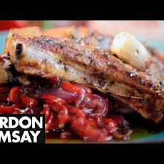 Gordon Ramsay Pork Chops with Sweet and Sour Peppers