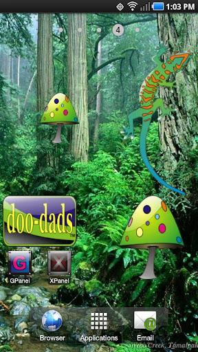 Mushroom doo-dad green