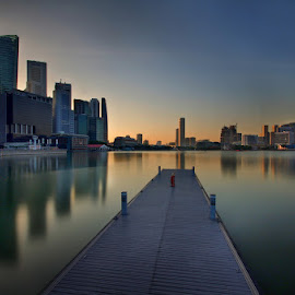 Skyline with long exposure by Ken Goh - City,  Street & Park  Skylines