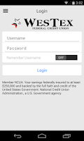 Screenshot of WesTex FCU Mobile