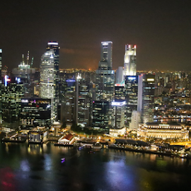 City @night by SENTHILKUMAR KALIAPPAN - City,  Street & Park  Skylines ( singapore, city )