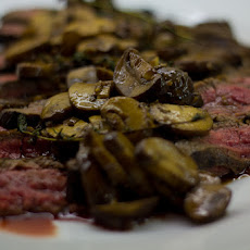 Marinated Flank Steak with Mushroom Sauce