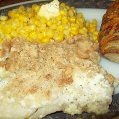 Halibut with Cream Sauce