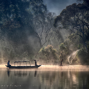 HUNTING ANGEL  by Arif Otto - Landscapes Forests ( angel, indonesia, hunting, situ gunung,  )