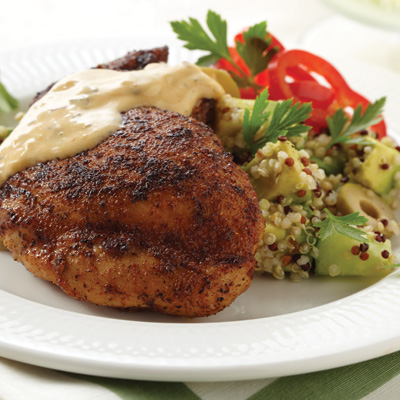 Quinoa Salad with Spice-Rubbed Chicken Thighs