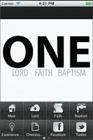 Screenshot of One Faith App