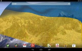 Screenshot of 3D Ukraine Flag LWP