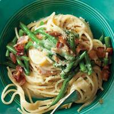 Green Bean Spaghetti Carbonara