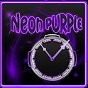 Neon Purple Style Clock icon