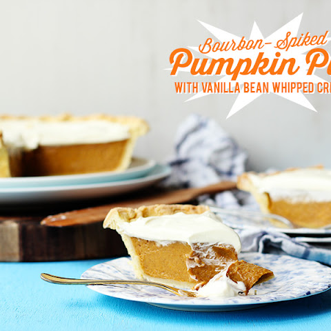 Bourbon-Spiked Pumpkin Pie with Vanilla Bean Whipped Cream