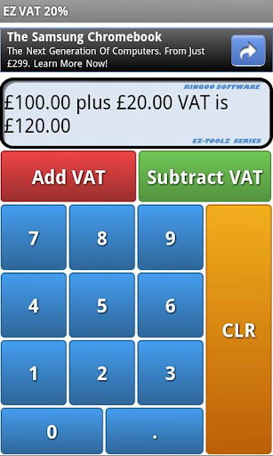 EZ VAT 2in1 for Android.