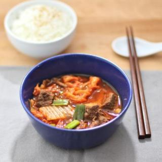 Spicy Kimchi Beef Soup