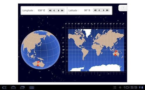 Longitude and Latitude - screenshot