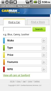 CarMax Search Bot - screenshot
