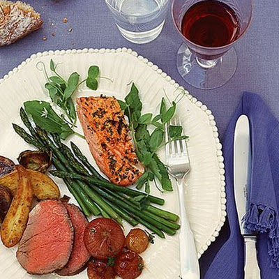 Roasted Salmon with Sorrel and Lemon