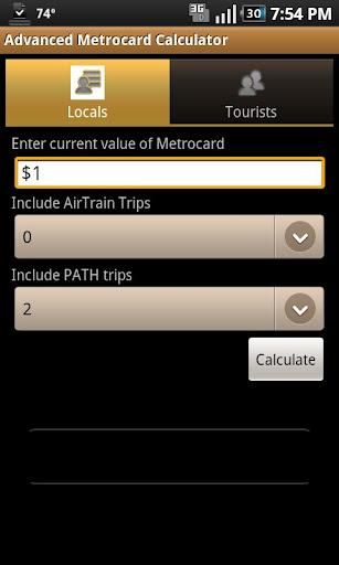 Advanced Metrocard Calculator