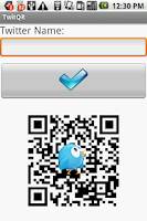 Screenshot of TwitQR