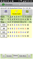 Screenshot of Golf Strokes & Bets