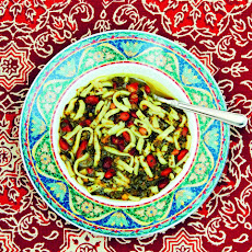 Persian Bean and Noodle Soup