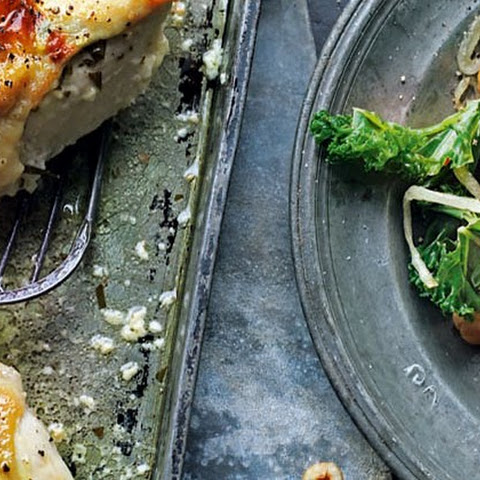 Stuffed Chicken Breasts With Stir-fried Kale And Hazelnuts