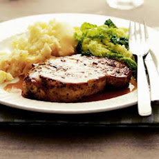 Pork Steaks With Gin & Coriander Sauce