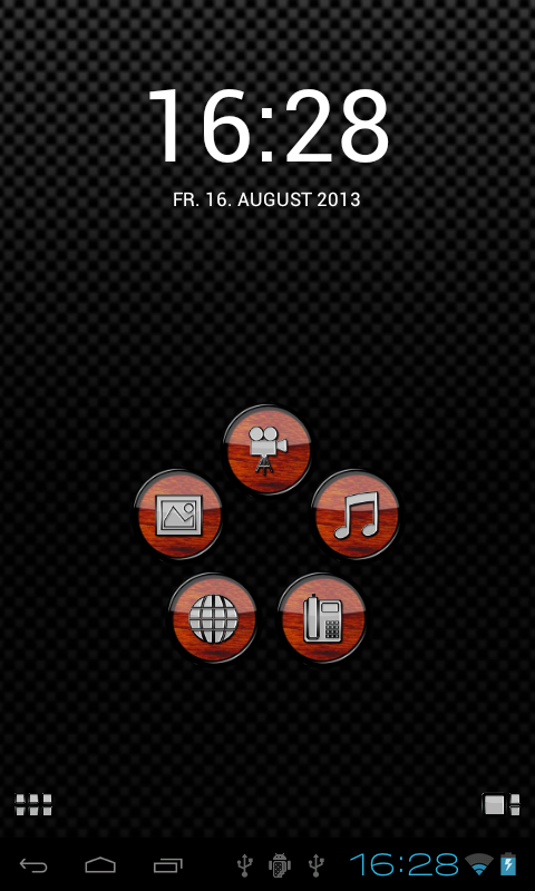 Smart Launcher theme Wood Screenshot 0