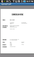 Screenshot of easyCV Resume Creator - NO ADS