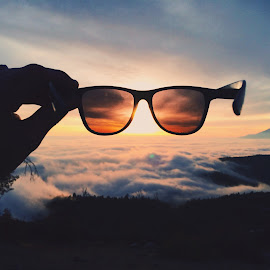 Shades by Andrew Smith - Artistic Objects Clothing & Accessories ( sun glasses clouds mountain vsco nature sunset )