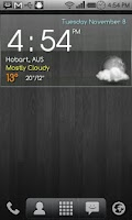 Screenshot of Digital clock weather theme 1