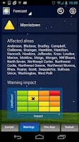 Screenshot of USA Weather Forecast and Radar