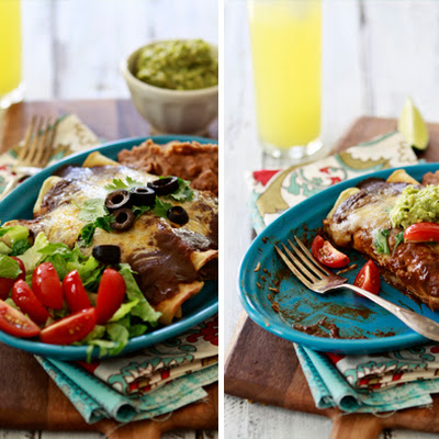 Chicken Enchiladas with Homemade Chile Gravy Enchilada Sauce