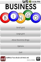 Screenshot of Business Bingo