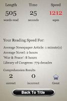 Screenshot of Speed Reading Trainer - Full