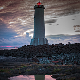 Lighthouse in Akranes W. Iceland by Arni Thor Sigmundsson - Buildings & Architecture Statues & Monuments