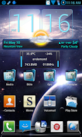 Screenshot of Galaxy S4.3 Blend NextLauncher