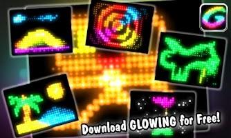 Screenshot of Glowing -create fun animations
