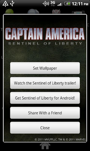 captain-america-live-wallpaper for android screenshot