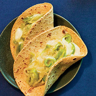Soft Tacos with Sliced Chiles and Cheese (Rajas Con Queso)