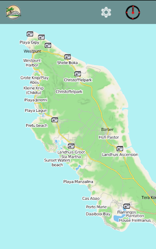 CURAÇAO & BONAIRE travel map - screenshot