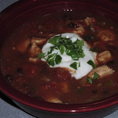 Easy Chicken Tortilla Soup -- Crock Pot