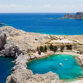 Lindos Greece by Edmund Fellinger - Landscapes Travel ( #lindos, #greece, #rhodos, #holiday, #travel )