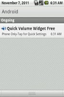 Screenshot of Quick Volume Widget Free